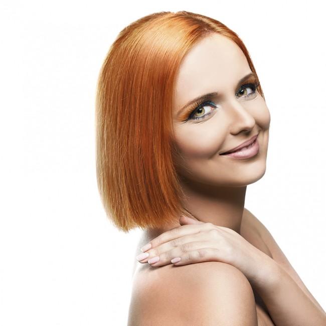 Medium Length Hair Cut, Colored